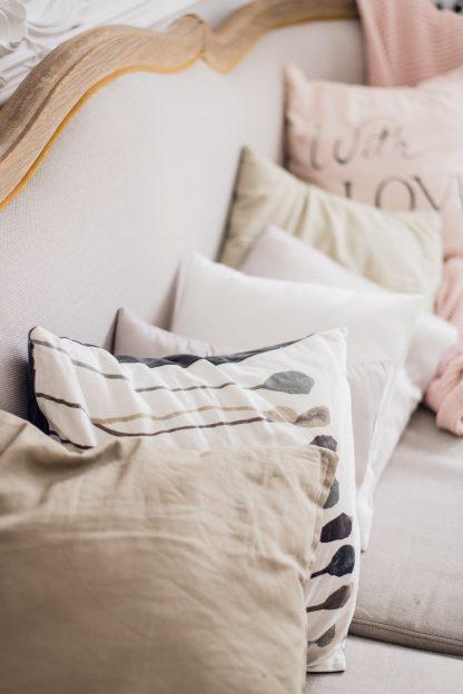 Love pink pillow interior living room decoration
